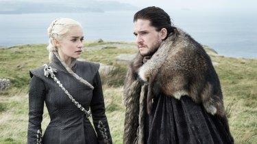 Danaerys Targaryen (Emilia Clarke) and Jon Snow (Kit Harington) discover a shared bond with dragons.