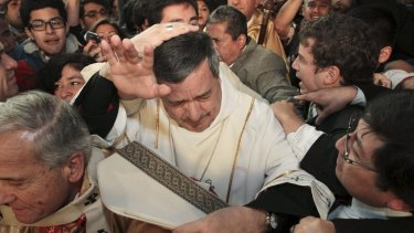Hundreds of Catholics in Chile protested against the appointment of Juan Barros as bishop.