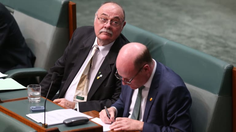 Liberal MP Warren Entsch, with colleague Trent Zimmerman, says fatigue has set in on gay marriage.