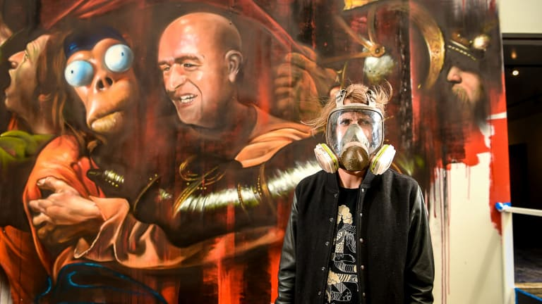 Adnate says Banksy disapproves of the new exhibition.