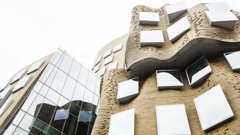 The Gehry-designed building.