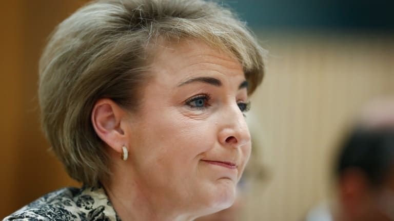 Employment Minister Senator Michaelia Cash during a Senate estimates hearing in October.
