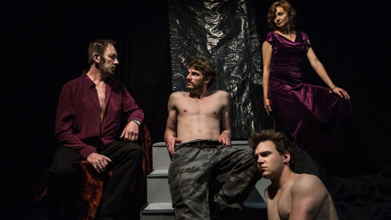 Scandalous Boy: From left, Nicholas Eadie, Ethan Gibson, Emma Strand, James Hughes.