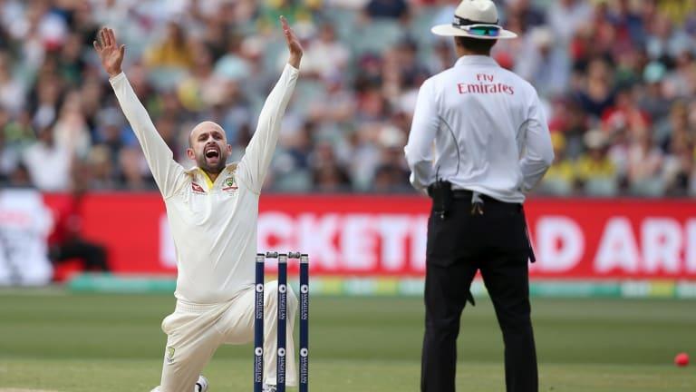Spin king: Nathan Lyon in Adelaide