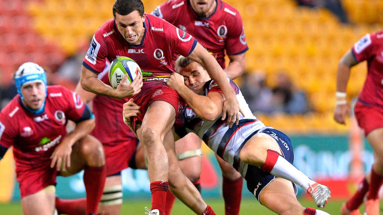 Fullback Tom Banks hopes to get more Super Rugby game-time after signing with the Brumbies.