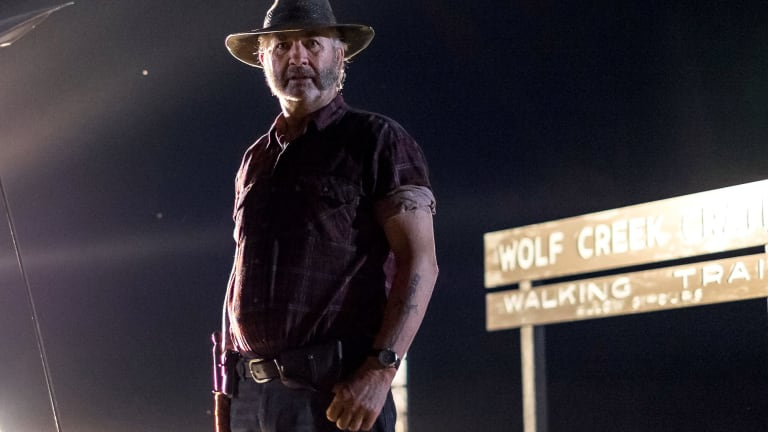 John Jarratt's hunter becomes the hunted in the new <i>Wolf Creek</i> TV series.