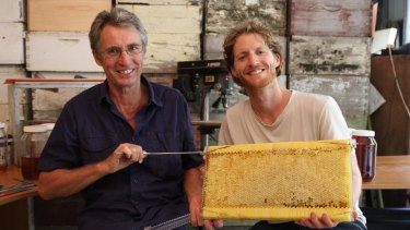 Stuart (left) and Cedar Anderson have developed a superior way of farming honey.