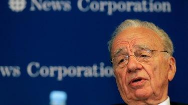 News Corporation chairman Rupert Murdoch.