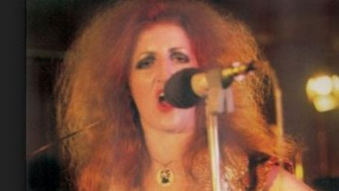 Carol Lloyd performs with Railroad Gin in 1974.