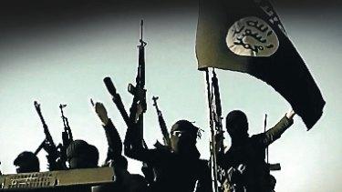 A scene from an  Islamic State propaganda video.