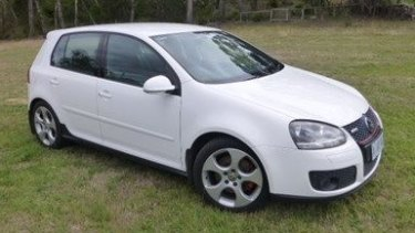 A vehicle similar to Mr Tran's white VW Golf, which was stolen after his murder.