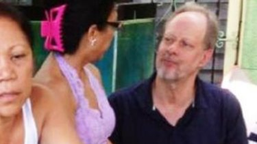Gunman Stephen Paddock with his Australian girlfriend Marilou Danley. She is still considered a person of interest, Sheriff Lombardo said.