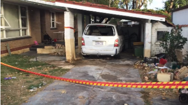 The crashed car came to a halt beside a bedroom with four children inside