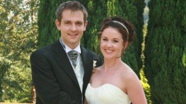 Jill and Tom Meagher on their wedding day.