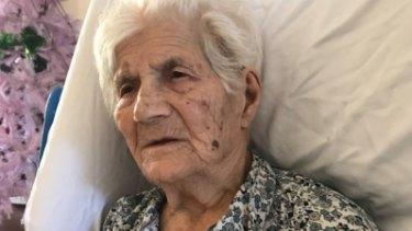 Dimitra Pavlopoulou, 97, was taken from her nursing home in Clarinda