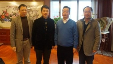 Chau Chak Wing, second from right, meeting United Front Work Department officials in 2016.