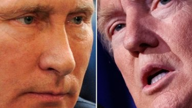 Co-operation: Vladimir Putin and Donald Trump.