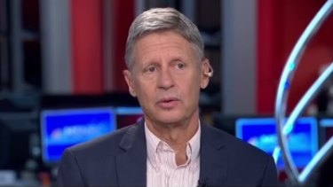 Gary Johnson shocked his interviewers with his response.
