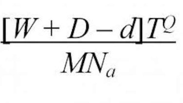 The Blue Monday formula. W = weather, T = time since Christmas, D = debt.