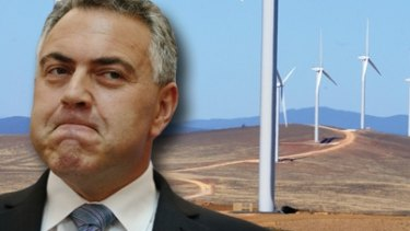 "Former treasurer Joe Hockey described wind turbines near Lake George as ""utterly offensive""."