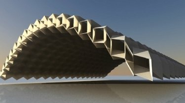Design for a deployable architectural canopy.