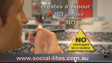 A video, since removed from the Social-Lites website claimed its e-cigarettes contained no carcinogens