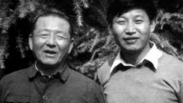 Xi Jinping and his father Xi Zhongxun, a war hero who later suffered during Mao's Cultural Revolution.