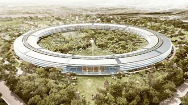 An artist's impression of Apple's second campus.