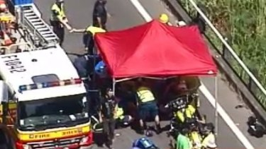 One dead, another injured in Bruce Highway motorcycle crash