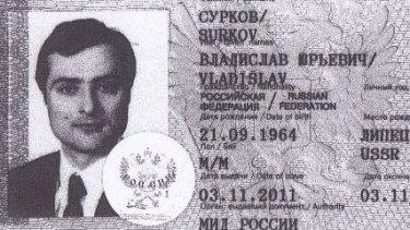 Image of passport of Putin-adviser Vladislav Surkov released in hack by Ukrainian group Cyber Junta.