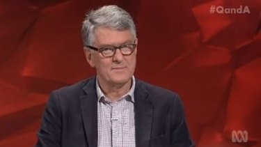 Q&A panellist David Marr was not impressed with Barnaby Joyce's suggestion that improving manners around women was an answer to domestic violence.