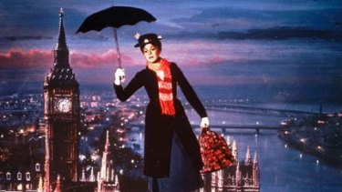Julie Andrews as Mary Poppins in the 1964 film.