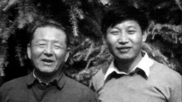 Xi Jinping and his father Xi Zhongxun.