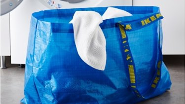 The classic Ikea shopping (and laundry) bag.