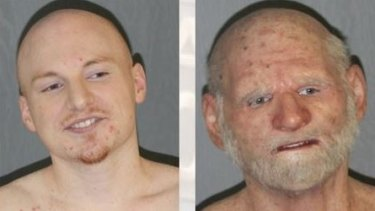 """31-year-old Shaun """"Shizz"""" Miller (left) and in the mask he was arrested in (right)."""