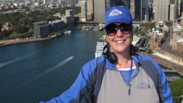 Twelve weeks after liposuction surgery for lymphoedema, Sharne Willoughby climbed the Sydney Harbour Bridge.