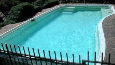 The pool in 2007 when the Spitfire Drive property was sold.