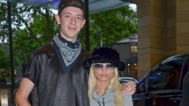 """In happier times: Jayden Seyfarth, 18, told Kylie Jenner's best friend Pia Mia, 19, at Sydney Airport two weeks ago as she was about to board a flight: """"I hope your plane crashes."""""""
