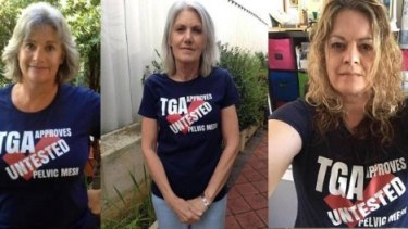 Women from around Australia who have suffered severe complications after mesh surgery.