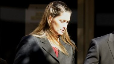Constable Megan McNamara leaves a Newcastle court.