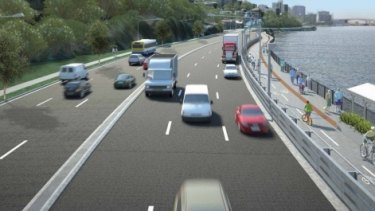An artists impression of the Kingsford Smith Drive upgrade