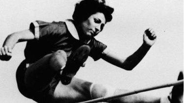 Margaret Bergmann Lambert, as Gretel Bergmann was later know, winning a US championship in 1937.