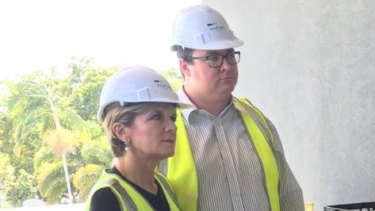 George Christensen campaigning with Foreign Minister Julie Bishop this week.