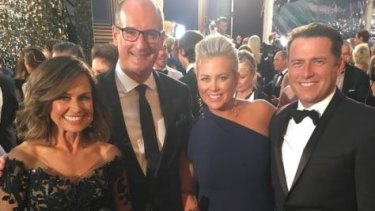Wilkinson, Koch, Armytage and Stefanovic at the 2017 Logies.
