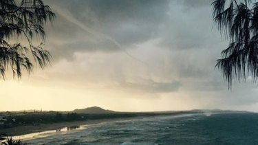 Waterspout viewed at Port Arkwright.