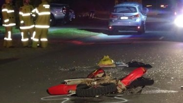 15-year-old motorcyclist fighting for life after collision