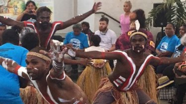 The handover ceremony on Thursday was marked by celebratory traditional dancing and singing.