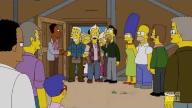 Entry to Springfield, USA, is through a door - sound familiar?