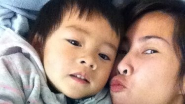 Lisa Le and her son William.