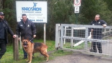 One of the sniffer dogs at the Narconon drug rehab centre.